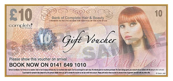 glasgow salon voucher